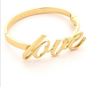 Kate spade love cuff bangle bracelet